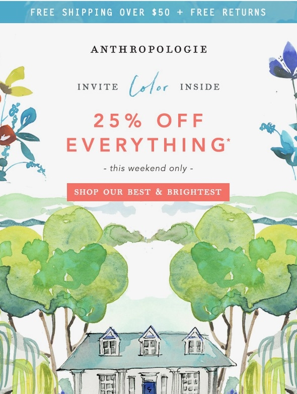 Anthropologie Email Us 20 Mar 2020