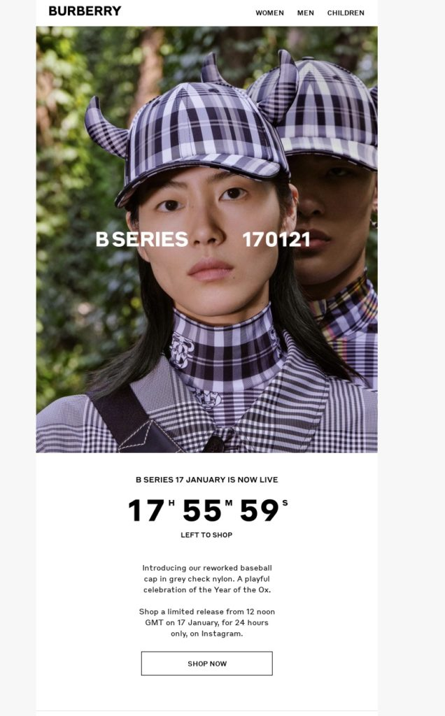 Burberry Email Uk Jan 17, 2021