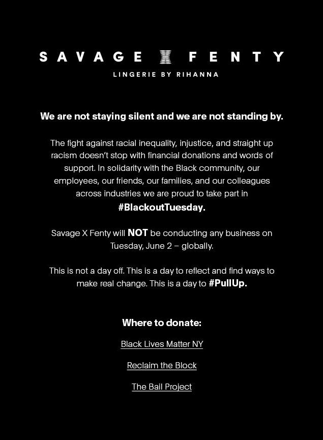 Savage X Fenty Email Us 02 Jun 2020 1