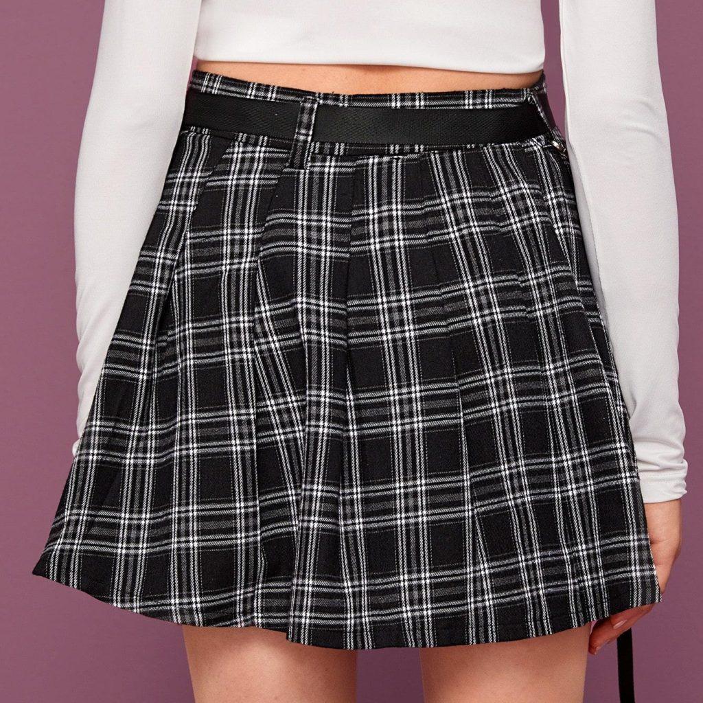 Shein Tartan Skirt